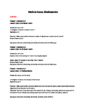 Kindergarten Math in Focus- Chapters 1-6