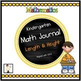 Kindergarten Length & Height Math Journal
