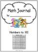 Kindergarten Numbers to 100 Math Journal