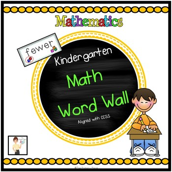 Kindergarten Math Word Wall for the Entire Year