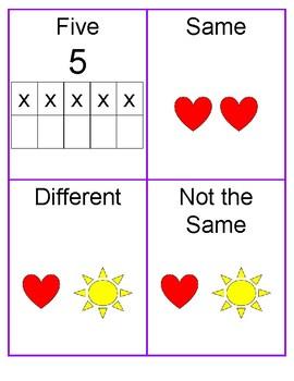 Kindergarten Math in Focus Vocabulary Cards- Chapter 1