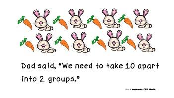 Decomposing number 10  (K.OA.A.3) -  Kindergarten Math mini book
