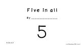 Free  Kindergarten Math mini book: Decomposing number 5 (K