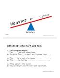Kindergarten Math mini book-  Heavier or lighter (K.MD.A2)