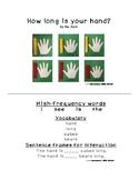 Kindergarten Math mini book- How long is your hand? (K.MD.A1)