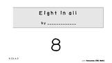 Kindergarten Math mini book - Decomposing number 8  (K.OA.A.3)