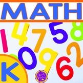 Year round math for Kindergarten - common core aligned bundle