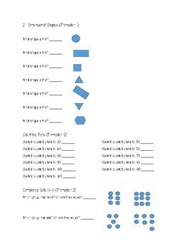 Kindergarten Mathematics Assessment
