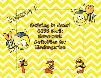 Kindergarten Mathematics CCSS Homework Activities- Cluster 1
