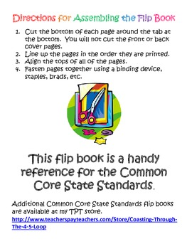 Kindergarten Mathematics Common Core State Standards Flipbook