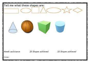 Kindergarten Maths Assessment