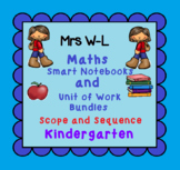 Kindergarten Maths SCOPE AND SEQUENCE for Smart Notebook & Unit of Work Bundles