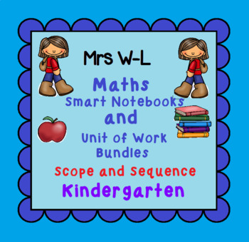 Kindergarten Maths SCOPE AND SEQUENCE for Smart Notebook & Unit of Work Bundles