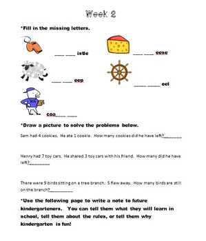Kindergarten May Homework
