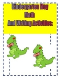 Kindergarten May Math Reading and Writing Activities