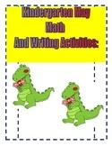 Kindergarten May Math Reading and Writing Activities