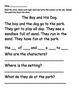 Kindergarten May Math Reading and Writing Activities Sample
