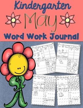Kindergarten May Word Work Journal