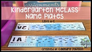 mClass Kindergarten Name Plates