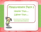 Kindergarten Measurement Activity Pack - Weight