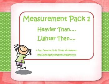 Kindergarten Measurement Activity Pack - Weight