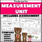 Kindergarten Measurement Compare Height Length Capacity K.MD.2 Three Bears Theme