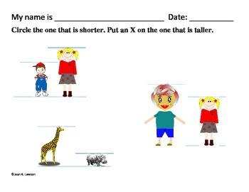 Kindergarten Measurement & Data--Common Core--Visual, Data Collection