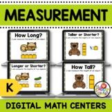 Kindergarten Measurement Digital Task Cards on Google Slides