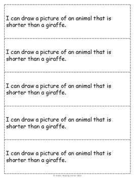 Kindergarten Measurement Math Journal Prompts- Print, Cut & Go!