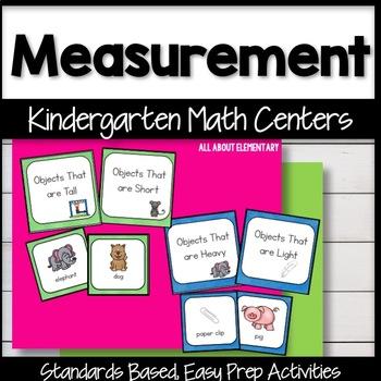 Kindergarten Measurement Math Work Stations