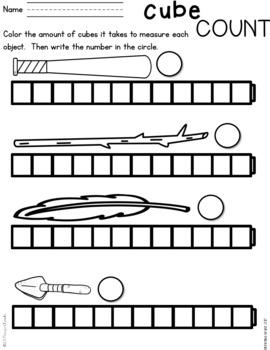 Kindergarten Measurement Practice Pages