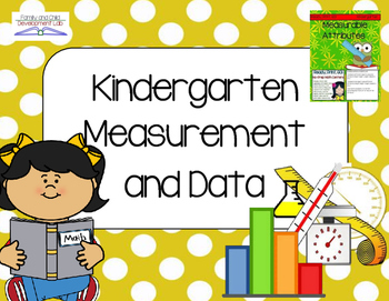 Kindergarten Measurement and Data (Lessons, Activities, and Centers)