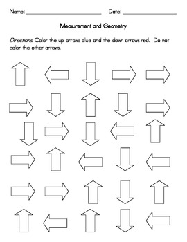 Kindergarten Measurement and Geometry Worksheets