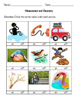 Kindergarten Measurement and Geometry Worksheets