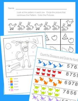 Kindergarten Mega Bundle: Letters, Numbers, Tracing, Cutting