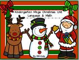 Kindergarten Mega Christmas/ Writing/ Math / Santa/ Snowman/ Reindeer Activities