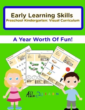 1 Year Early Learning Skills Preschool Kindergarten: Visual Curriculum Mega Pack