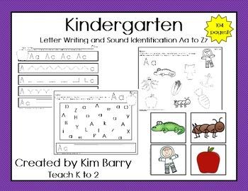 Kindergarten Mega-Pack Letters Aa to Zz
