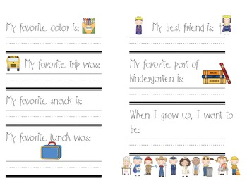 Kindergarten Memories Book