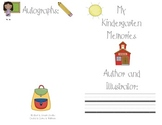 Kindergarten Memories Book