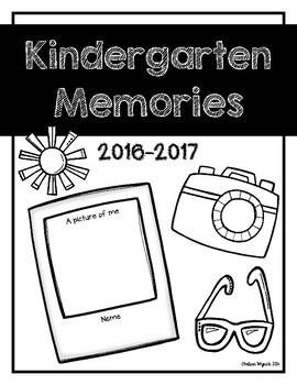 Kindergarten Memories Book Cover Page