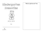 Kindergarten Memories Booklet
