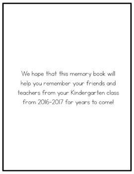 Kindergarten Memory Book {A Keepsake for the End of the Year}