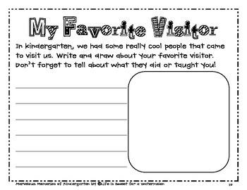 Kindergarten Memory Book - An End of Year Activity