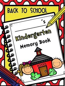 Kindergarten Memory Book - Back to School