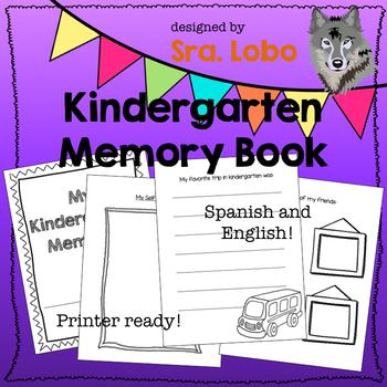 Kindergarten Memory Book - ENGLISH and SPANISH