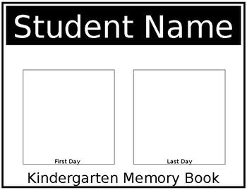 Kindergarten Memory Book *Editable*