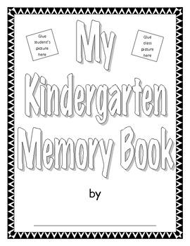 Kindergarten Memory Book - End of School Year