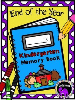 Kindergarten Memory Book - End of Year