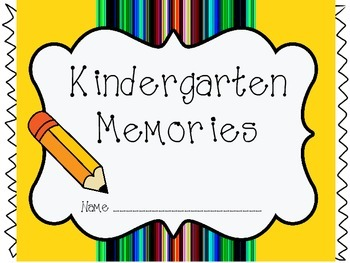 Kindergarten Memory Book (End of Year Book)